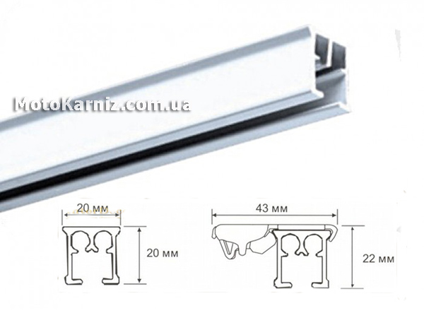 Размеры алюминиевого профиля электрического карниза